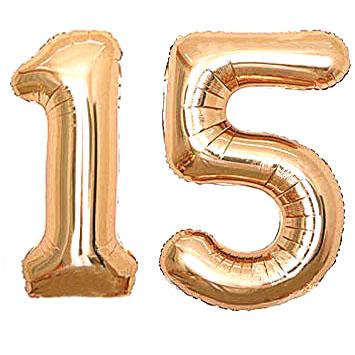 Ballons 15 Jahre