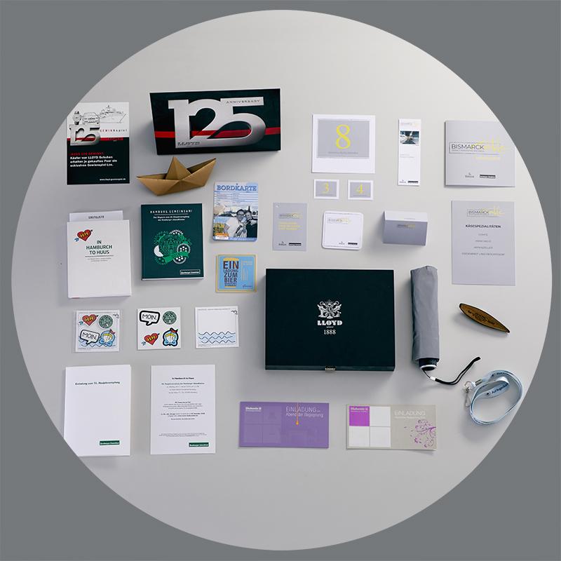 Uebersicht Case Events diverse Werbemittel