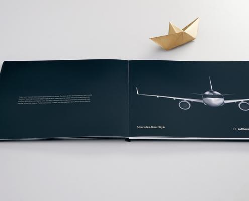 Druckproduktion Mailing Hamburg für Lufthansa Technik