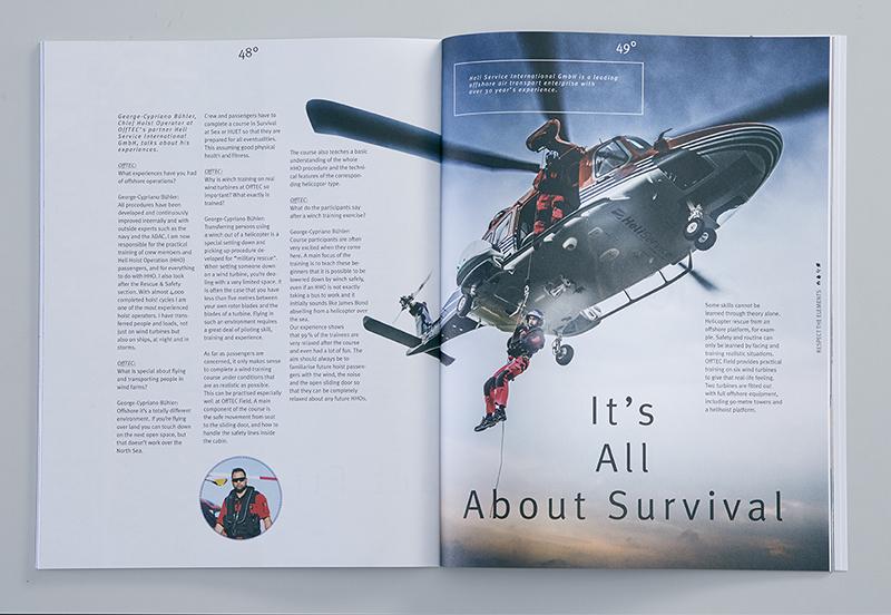 Magazinseite innen Bericht Hubschrauberrettung
