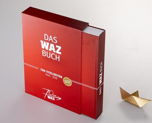 Schuber WAZ Buch mit Papierboot