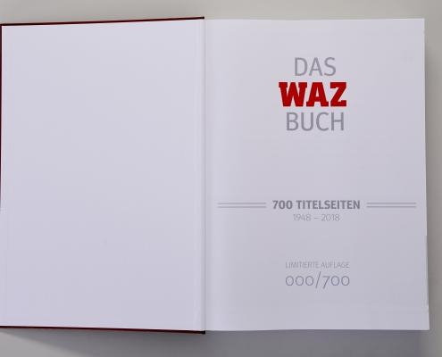 WAZ Buch innen erste Seite