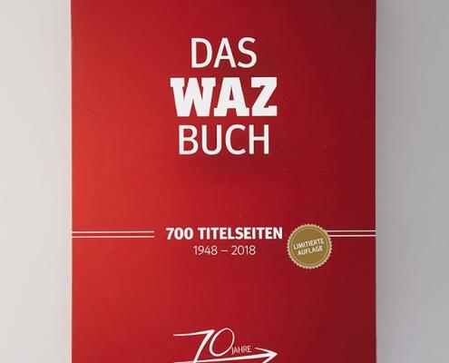 Rotes WAZ Buch mit Goldpraegung