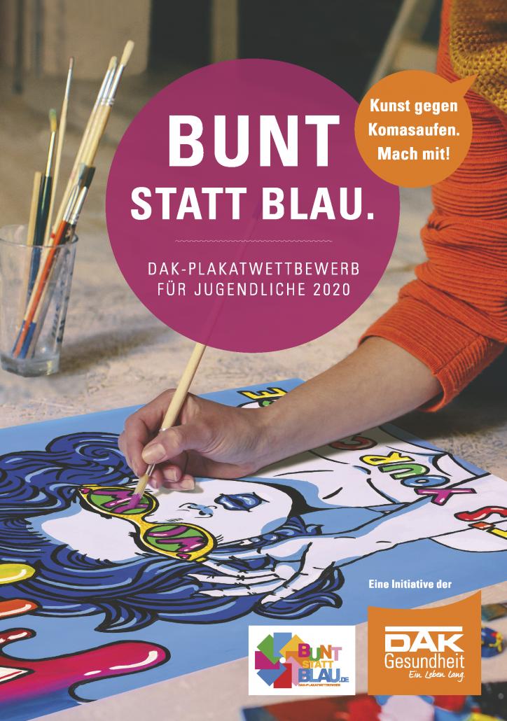 Titel der DAK Broschüre Bunt statt Blau